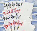 Selection scattered playing cards Royalty Free Stock Photo