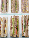 Selection Of Take Away Sandwiches Royalty Free Stock Photography