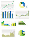 Selection of typical business performance graphs Royalty Free Stock Photo