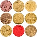 Selection of various wine corks Royalty Free Stock Photo