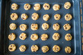Selective focus with shallow depth of field on home made cookies Royalty Free Stock Photo