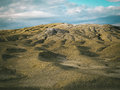 Selenar view of mud vulcano a at volcano in buzau country romania Royalty Free Stock Image