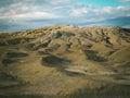 Selenar view of mud vulcano a at volcano in buzau country romania Royalty Free Stock Image