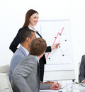 Self-assured woman doing a presentation Royalty Free Stock Photo