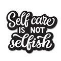 Self care lettering Royalty Free Stock Photo