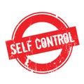 Self Control rubber stamp
