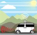 Self-driving car. Driverless car. Royalty Free Stock Photo
