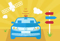 Self-driving Car Vector Illust...