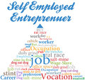Self employed entrepreneur job occupation Stock Image