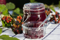 Self-made blackberry jam Royalty Free Stock Photography