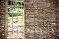 Self-made garden fence
