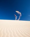Self-made sand genie Stock Photography