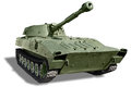 Self-propelled artillery Royalty Free Stock Photo