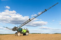 Self propelled sprayer in a lithuanian field Royalty Free Stock Photo