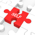 Self puzzle shows me my yourself or myself showing Royalty Free Stock Images