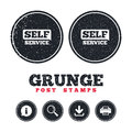 Self service sign icon. Maintenance button. Royalty Free Stock Photo