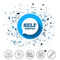 Self service sign icon. Maintenance symbol. Royalty Free Stock Photo