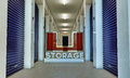 Self storage illustration of a interior Stock Image