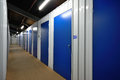 Self storage units a row of Royalty Free Stock Image
