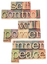 Selfcontrol, willpower, inner peace Stock Photos