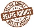 selfie addict brown stamp