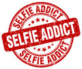 Selfie addict red stamp