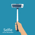 Selfie monopod vector
