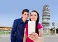 Selfie in Pisa Royalty Free Stock Photo