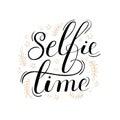 Selfie Time Lettering Poster