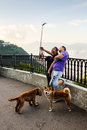 Selfie at victoria Peak in Hong Kong Royalty Free Stock Photo