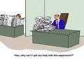 Selfish boss business cartoon about a thoughtless Stock Photo