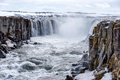 Selfoss waterfall in Vatnajokull National Park, North Iceland Royalty Free Stock Photo