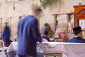 Selichot jewish penitential prays in the western wall jerusalem israel september men pray old city of jerusalem Stock Photography