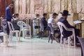 Selichot jewish penitential prays in the western wall jerusalem israel september men pray old city of jerusalem Royalty Free Stock Photo