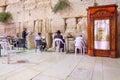 Selichot jewish penitential prays in the western wall jerusalem israel september men pray old city of jerusalem Stock Photos