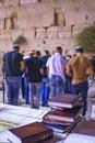 Selichot jewish penitential prays in the western wall jerusalem israel september men pray old city of jerusalem Stock Images