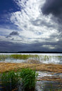 Seliger lake in stormy weather Royalty Free Stock Photo