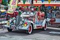 Seligman arizona usa july snow car in seligman arizona on Royalty Free Stock Images