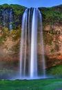 Seljalandfoss waterfall. Royalty Free Stock Photo