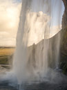 Seljalandsfoss water fall in iceland south east of Royalty Free Stock Images