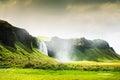 Seljalandsfoss waterfall in Iceland. Royalty Free Stock Photo