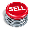 Sell Button isolated Stock Photos
