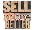 Sell more better in wood type Royalty Free Stock Photography