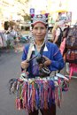 A seller at khaosan road bangkok thailand Royalty Free Stock Images