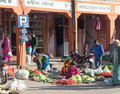 Seller selling the vegetables in Jaipur street, on January 29, 2014 in Jaipur, India Royalty Free Stock Photography