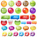Selling Badges. Vector Royalty Free Stock Photography
