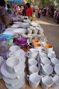 Selling cheap merchants kitchen utensils in the city of solo central java indonesia Stock Photo
