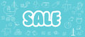 Selling children`s products. Sale. Poster template for baby shop.