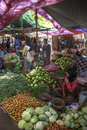 Selling vegetables market stall village near bagan myanmar burma Royalty Free Stock Photography
