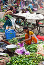Selling vegetables in Surat, India Royalty Free Stock Images